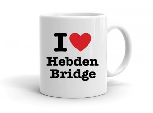 """I love Hebden Bridge"" mug"