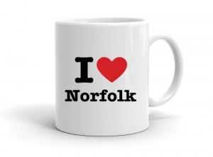 """I love Norfolk"" mug"