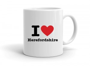 """I love Herefordshire"" mug"