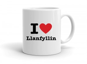 """I love Llanfyllin"" mug"