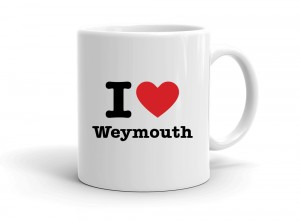 """I love Weymouth"" mug"