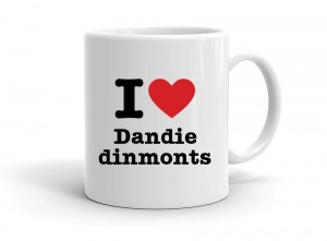 """I love Dandie dinmonts"" mug"