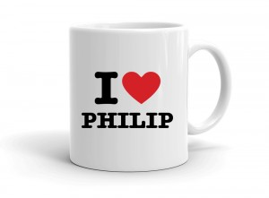 """I love PHILIP"" mug"