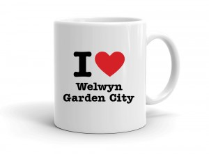 """I love Welwyn Garden City"" mug"