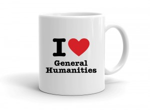 """I love General Humanities"" mug"