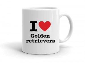 """I love Golden retrievers"" mug"