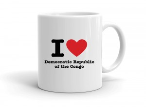 """I love Democratic Republic of the Congo"" mug"