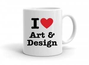 """I love Art & Design"" mug"