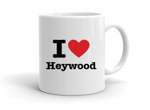 """I love Heywood"" mug"