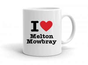 """I love Melton Mowbray"" mug"
