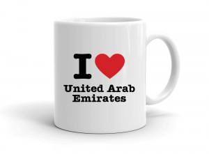 """I love United Arab Emirates"" mug"