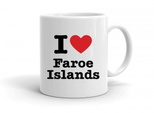 """I love Faroe Islands"" mug"