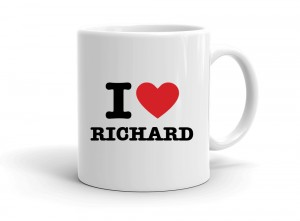 """I love RICHARD"" mug"