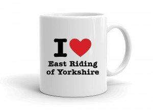 """I love East Riding of Yorkshire"" mug"