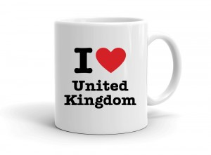 """I love United Kingdom"" mug"