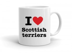 """I love Scottish terriers"" mug"