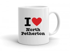 """I love North Petherton"" mug"