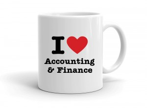 """I love Accounting & Finance"" mug"