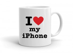 """I love my iPhone"" mug"