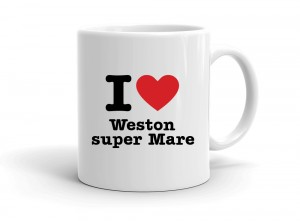 """I love Weston super Mare"" mug"