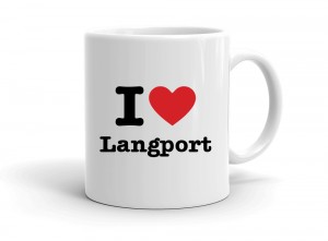 """I love Langport"" mug"