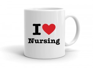 """I love Nursing"" mug"