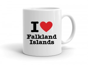 """I love Falkland Islands"" mug"