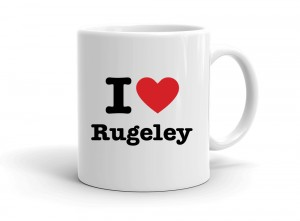 """I love Rugeley"" mug"