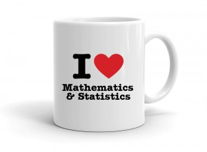 """I love Mathematics & Statistics"" mug"