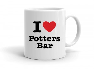 """I love Potters Bar"" mug"