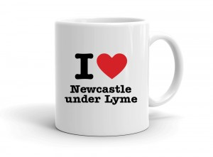 """I love Newcastle under Lyme"" mug"