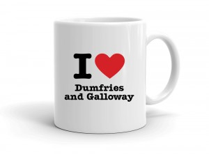 """I love Dumfries and Galloway"" mug"