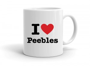 """I love Peebles"" mug"