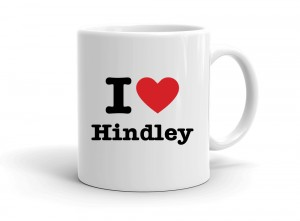 """I love Hindley"" mug"