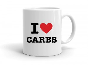"""I love CARBS"" mug"