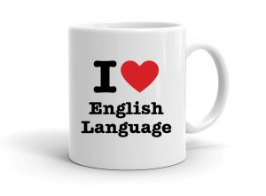 """I love English Language"" mug"