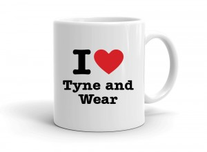"""I love Tyne and Wear"" mug"