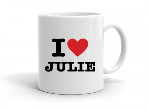 """I love JULIE"" mug"