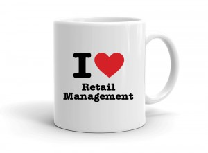 """I love Retail Management"" mug"