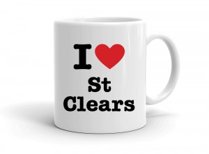 """I love St Clears"" mug"