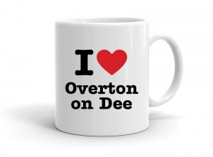 """I love Overton on Dee"" mug"