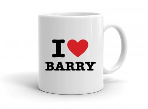 """I love BARRY"" mug"