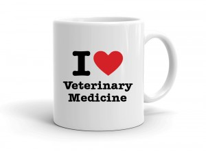 """I love Veterinary Medicine"" mug"