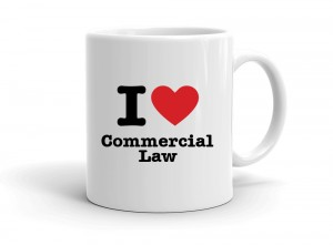"""I love Commercial Law"" mug"
