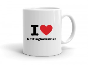 """I love Nottinghamshire"" mug"