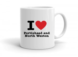 """I love Portishead and North Weston"" mug"