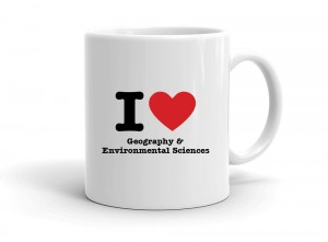 """I love Geography & Environmental Sciences"" mug"