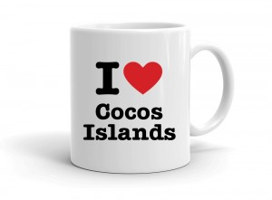 """I love Cocos Islands"" mug"
