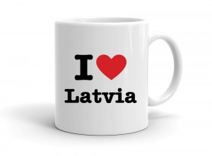 """I love Latvia"" mug"