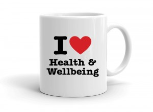 """I love Health & Wellbeing"" mug"
